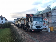 Tieflader-Transport